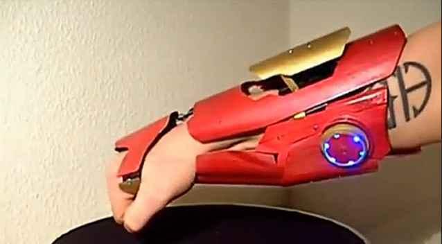 Un gant Iron Man réel et fonctionnel