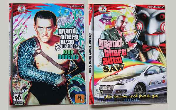 GTA Kirk Douglas et Robocop Arc en ciel Edition, Le meilleur du pire des jeux-vidéo pirates