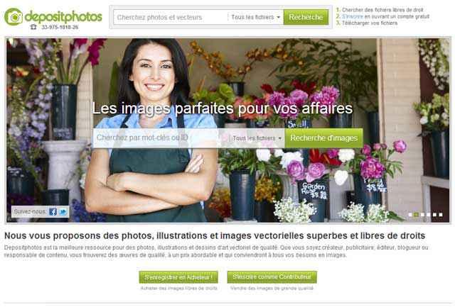 Depositphotos - Une banque d'image libre de droit