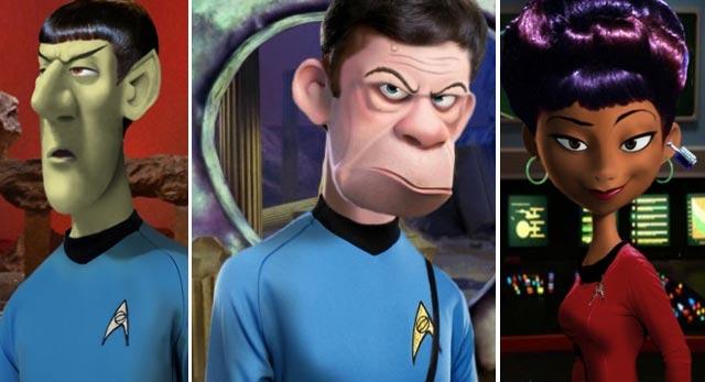 Les personnages de Star Trek version Pixar