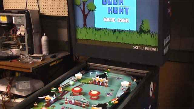 Un flipper Duck Hunt