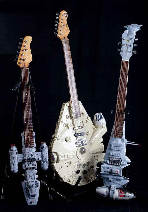 Des guitares en forme de vaisseaux Star Wars