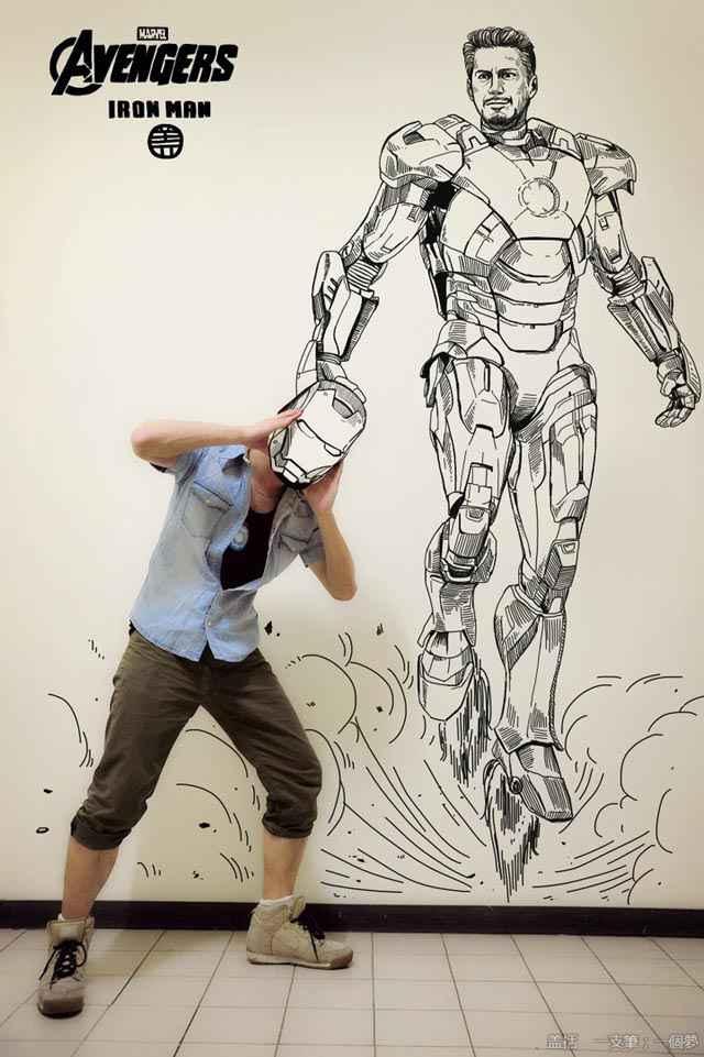 Illustrations de bandes dessinées et monde réel