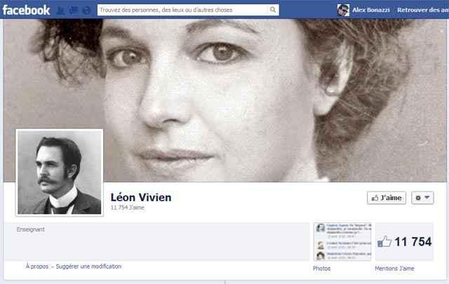 La page Facebook de Léon Vivien, un poilu de 14-18