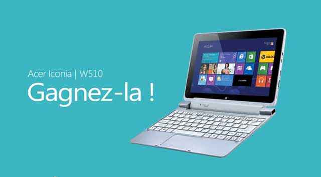 Try&Like It Windows 8 - 56 tablettes Acer Icona W510 à gagner !