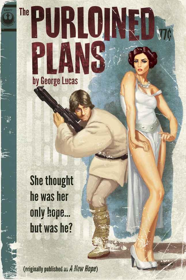 Des affiches Star Wars à la sauce Pulp magazines