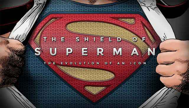 L'évolution du logo Superman en infographie