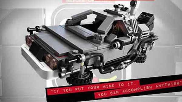 La DeLorean de Retour vers le Futur en LEGO