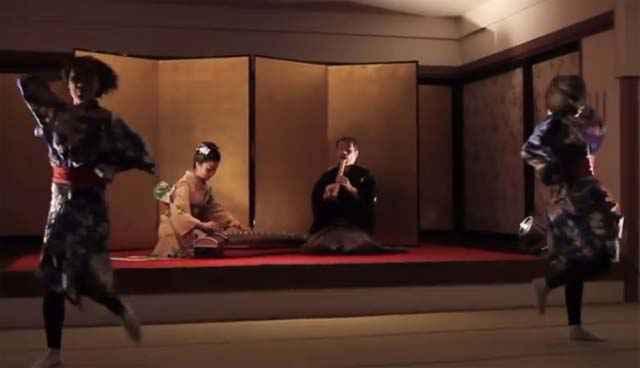 """Reprise du titre """"Telephone"""" de Lady Gaga avec des instruments japonais"""