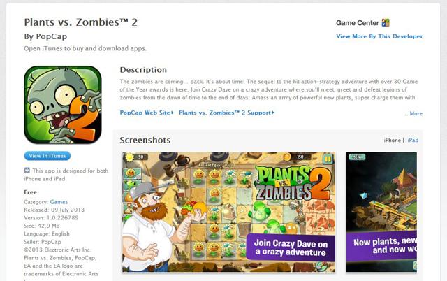 Jouer à Plants vs Zombies 2 gratuitement et dès aujourd'hui
