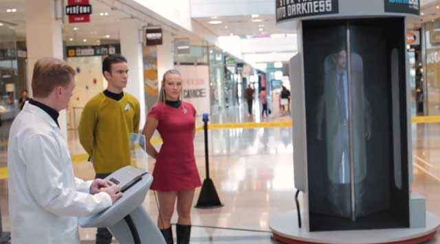 Star Trek, Une caméra cachée sur la téléportation dans un centre commercial au Royaume-Uni