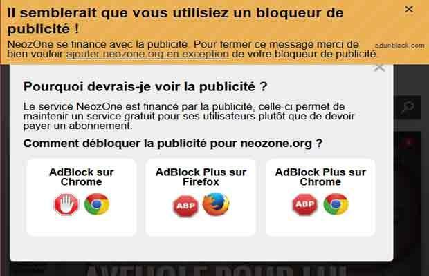 AdUnblock - Un anti-Adblock qui sensibilise les internautes