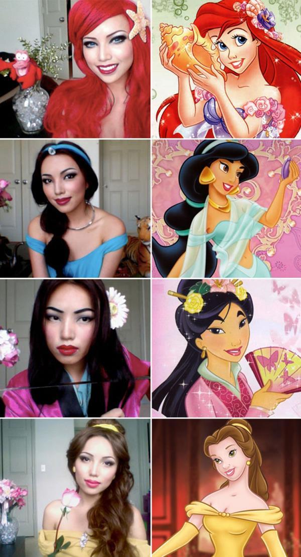 Maquillage cosplay princesses disney neozone - Maquillage princesse disney ...