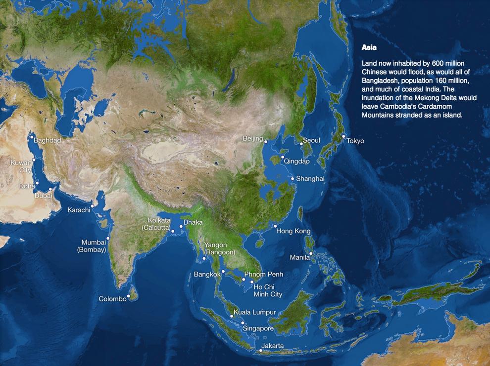 asie carte fonte des glaces NeozOne