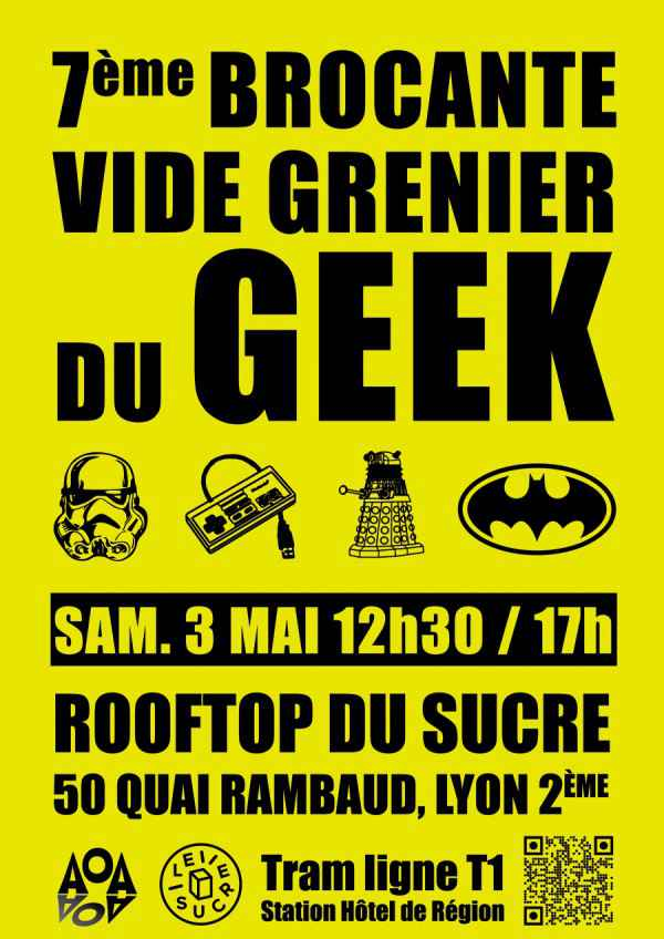 lyon vide grenier du geek dimanche 26 octobre neozone. Black Bedroom Furniture Sets. Home Design Ideas