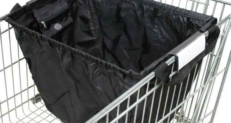 pratique un sac pour trier ses courses dans son caddie. Black Bedroom Furniture Sets. Home Design Ideas
