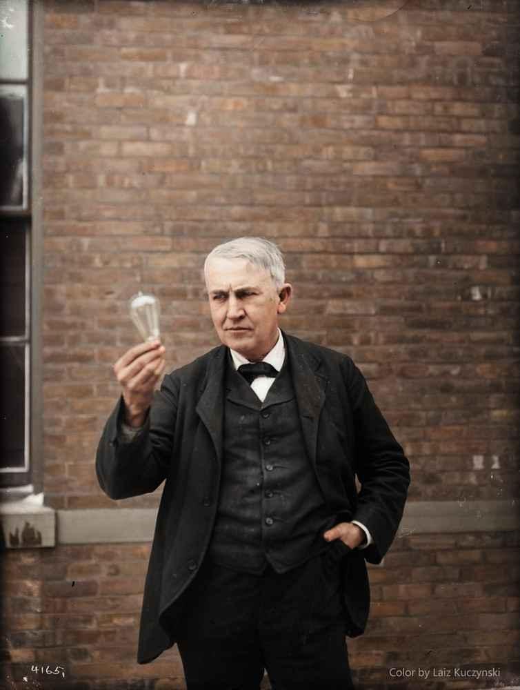 1911 - Thomas Edison (Inventeur et physicien)