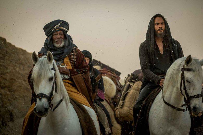 Morgan Freeman plays Ilderim and Jack Huston plays Judah Ben-Hur in Ben-Hur from Metro-Goldwyn-Mayer Pictures and Paramount Pictures.