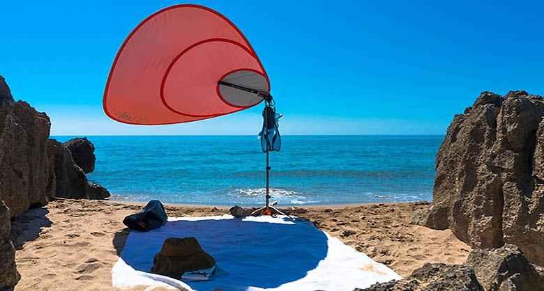 leaf for life r invente le parasol avec une ing nieuse voile d 39 ombrage neozone. Black Bedroom Furniture Sets. Home Design Ideas
