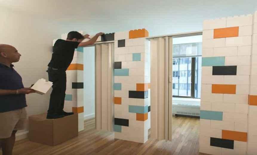 Muret separation interieur trendy cloison intrieure chne for Everblock prix