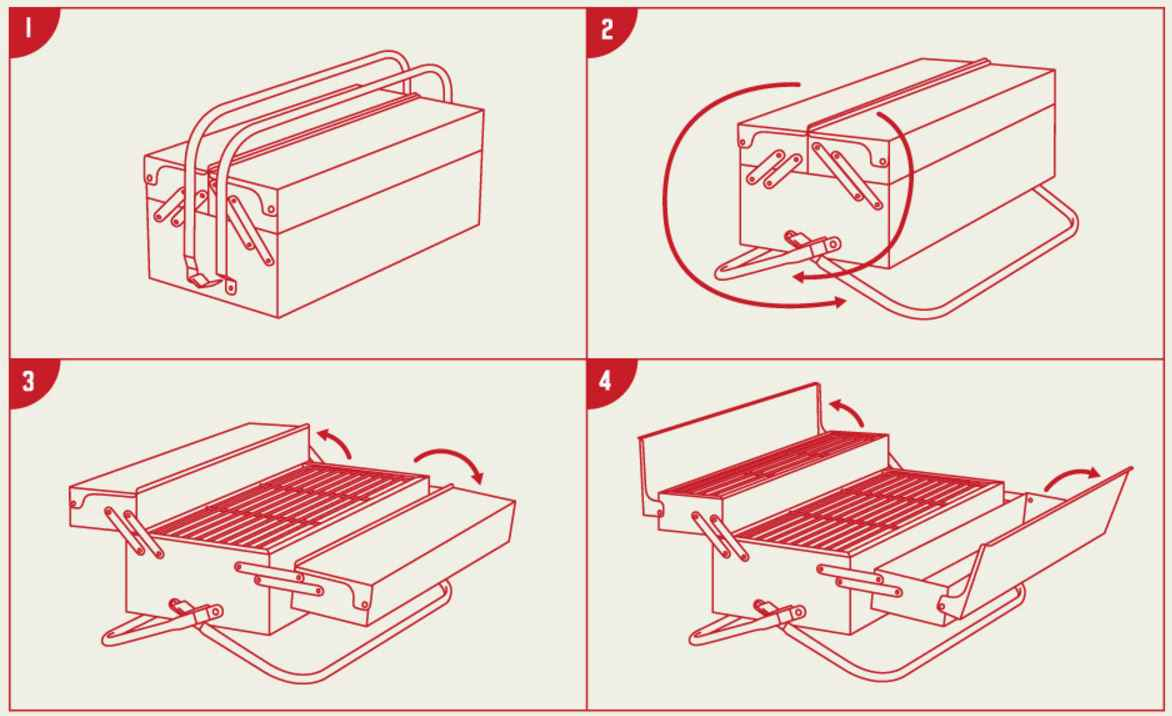 Bbq toolbox le barbecue portable en forme de caisse outils neozone - Barbecue caisse a outil ...