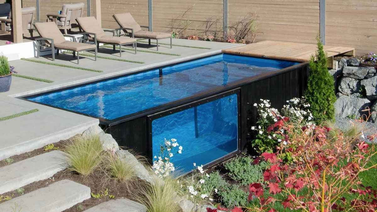 modpools les containers recycl s en piscine neozone. Black Bedroom Furniture Sets. Home Design Ideas