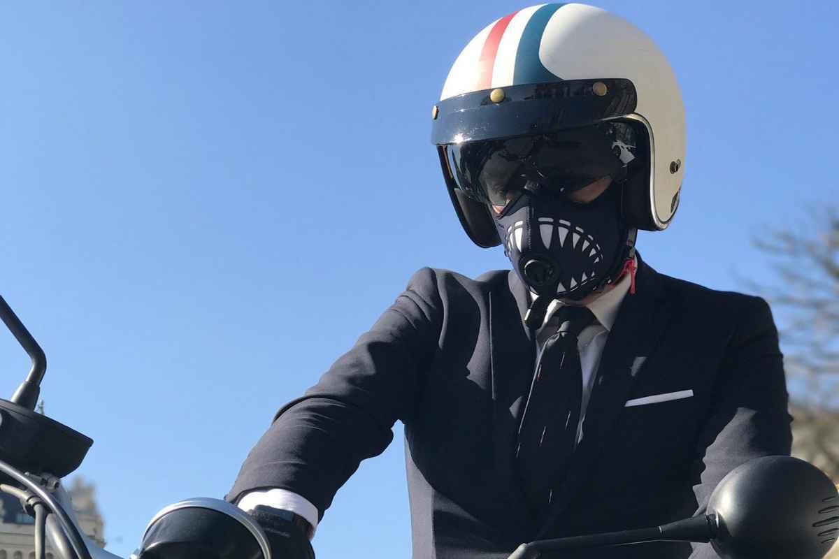 masque anti pollution dessin
