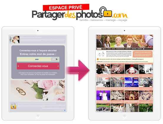 Partagerdesphotos.com permet de créer son espace de partage sécurisé