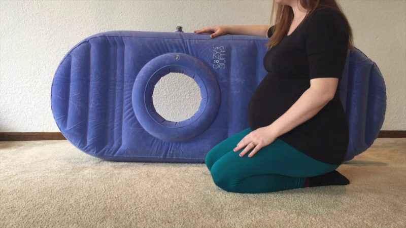 Cozy bump le matelas de grossesse pour aider les femmes - Se coucher sur le dos pendant la grossesse ...