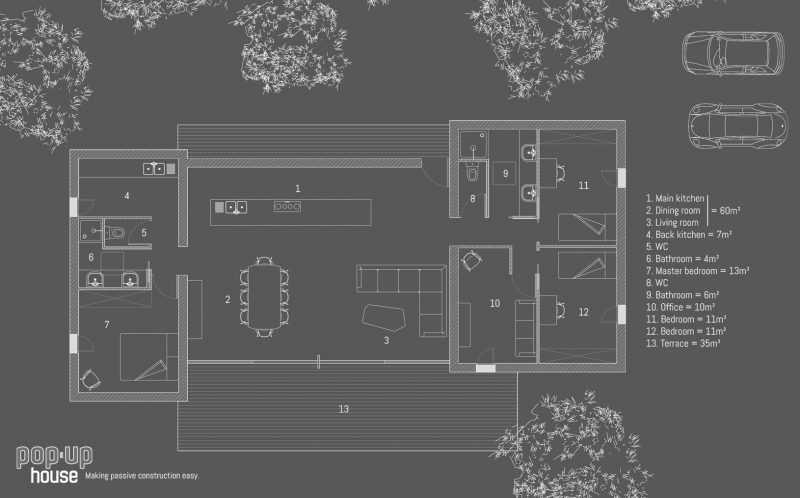 pop up house la maison bioclimatique constructible en 4 jours seulement neozone. Black Bedroom Furniture Sets. Home Design Ideas
