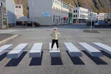 L'islande utilise l'anamorphose pour transformer ses passages piétons en 3D