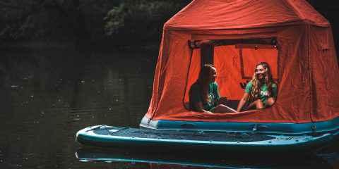 Shoal tente, la tente flottante