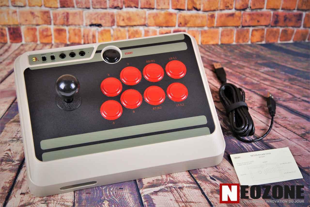 TEST Joystick 8Bitdo NES30 Arcade Stick | NeozOne