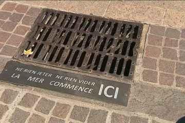 """""""La mer commence ici"""", le message sur les plaques d'égouts à Collioure"""