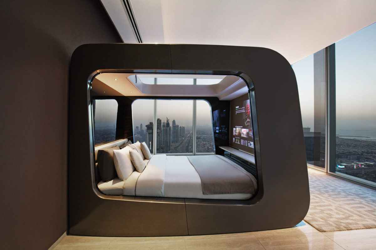 hican le lit qui se transforme en salle de cin ma neozone. Black Bedroom Furniture Sets. Home Design Ideas