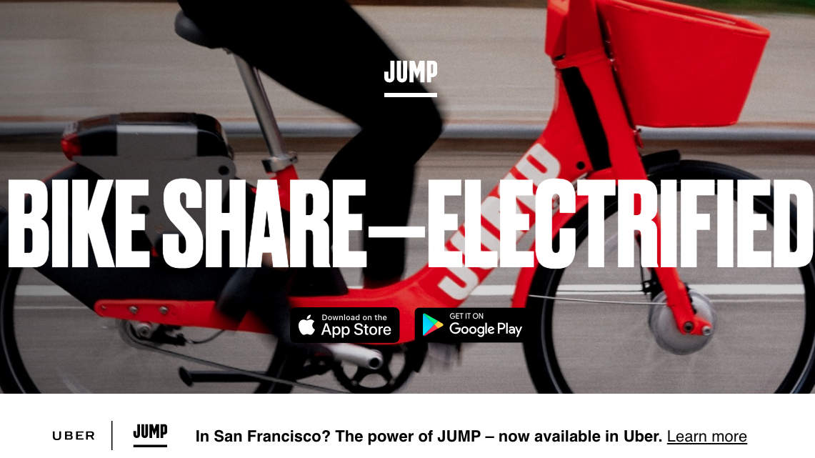 Rachat de Jump Bike par UBER