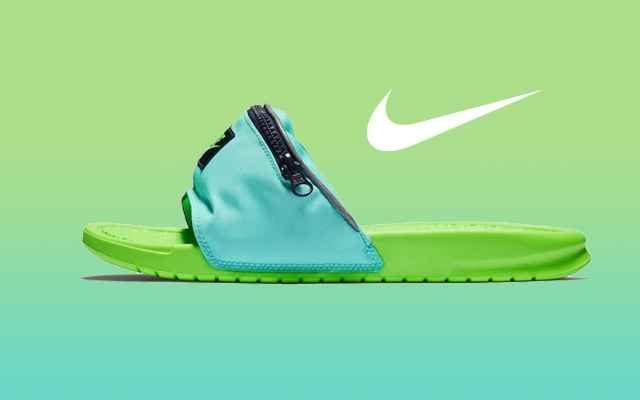 Les claquettes bananes Nike