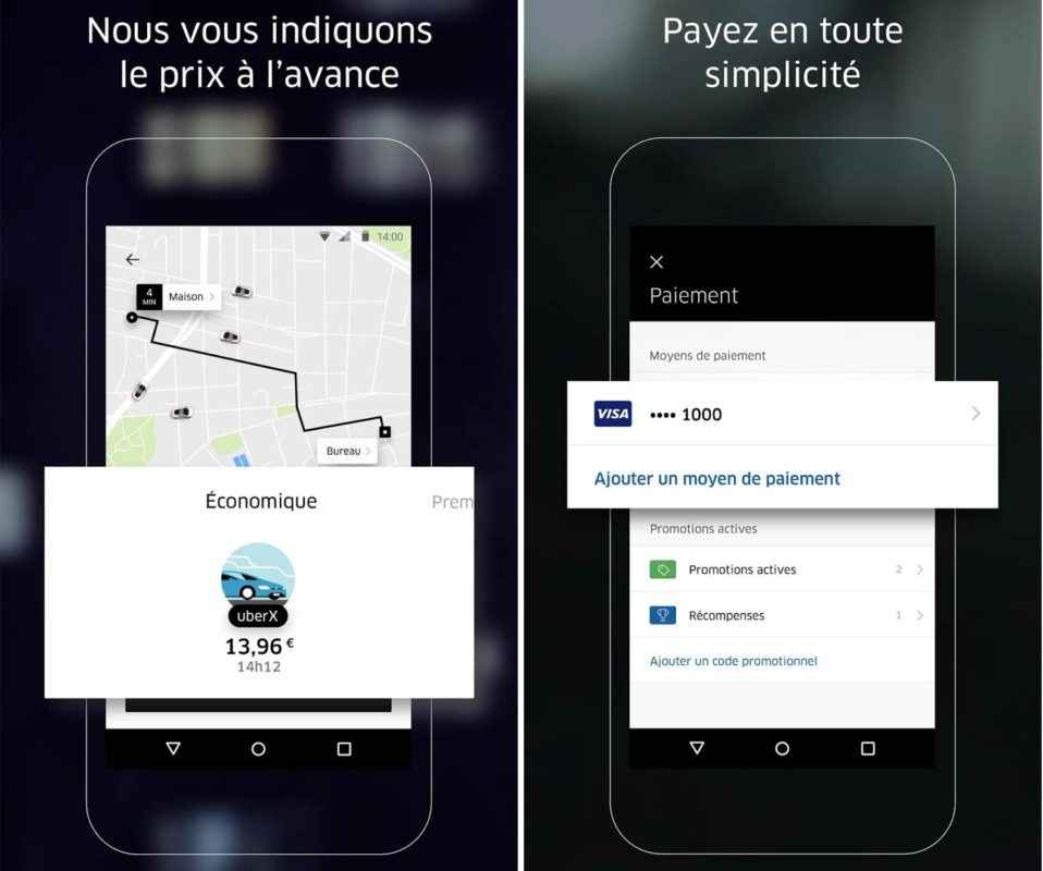 Uber code promo première course