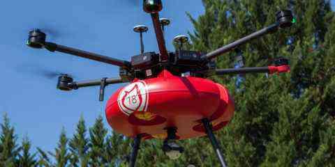 drone pompier Air marine