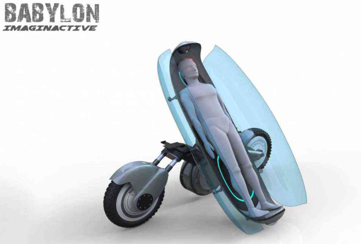 Babylon, un concept futuriste de moto ambulance autonome