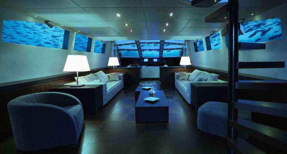 yacht sous marin luxe privé