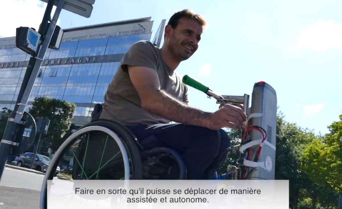 Rennes: Pour quelques euros ils recyclent des vélos électriques pour ajouter une assistance à des fauteuils roulant