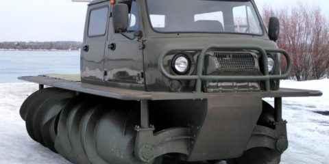 Chnekokhod ZVM-2901, le camion russe tout terrain à vis sans fin
