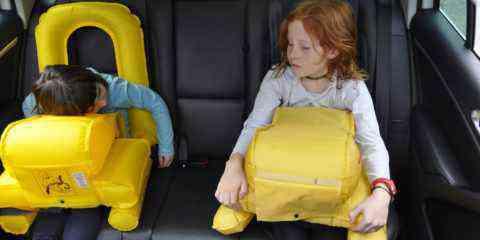 Luftikid, l'étonnant siège auto gonflable pour enfant qui agit comme un airbag