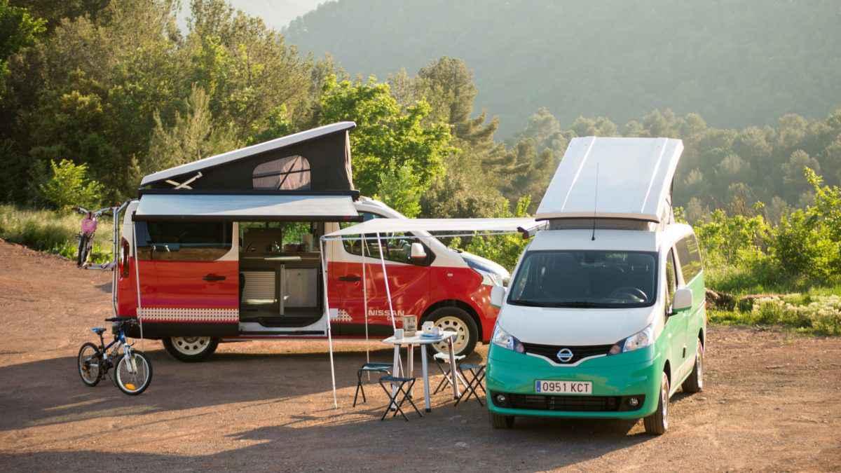 Nissan Camper e-NV200 et e-NV300, les combis aménagés 100 % électrique