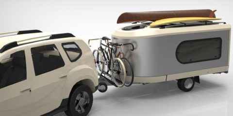 Tipoon The Travel Machine, la caravane de poche qui se déploie