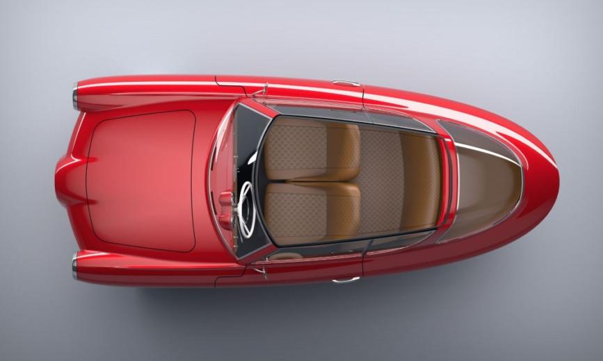 NOBE, la voiture de James Bond électrique et sur trois roues !