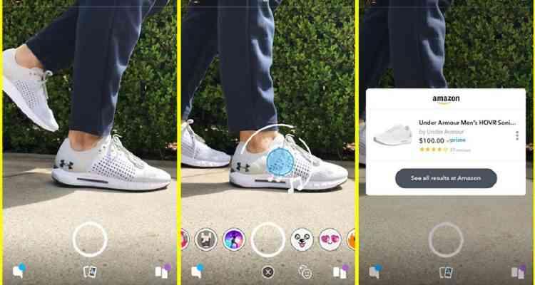 "Snapchat et Amazon développent le""Shazam du Shopping"""