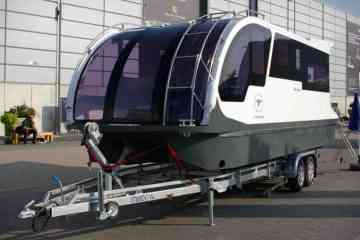 Caravanboat Departure One, la caravane qui se transforme en mini Yacht