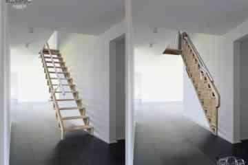 Bcompact Hybrid Ladder, l'ingénieux escalier qui s'ouvre comme un livre pop-up
